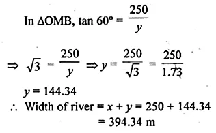 ML Aggarwal Class 10 Solutions for ICSE Maths Chapter 20 Heights and Distances Ex 20 44