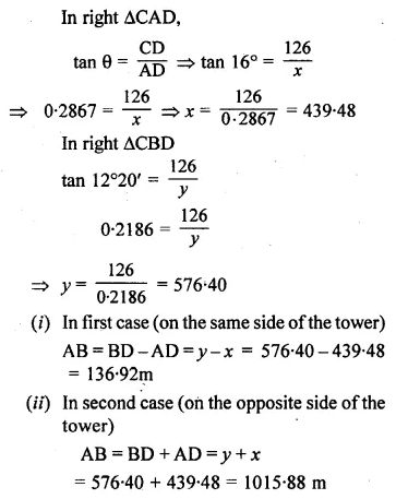 ML Aggarwal Class 10 Solutions for ICSE Maths Chapter 20 Heights and Distances Ex 20 46