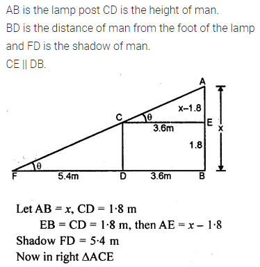 ML Aggarwal Class 10 Solutions for ICSE Maths Chapter 20 Heights and Distances Ex 20 47