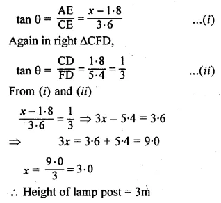 ML Aggarwal Class 10 Solutions for ICSE Maths Chapter 20 Heights and Distances Ex 20 48