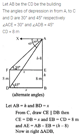 ML Aggarwal Class 10 Solutions for ICSE Maths Chapter 20 Heights and Distances Ex 20 49