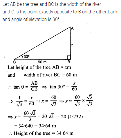 ML Aggarwal Class 10 Solutions for ICSE Maths Chapter 20 Heights and Distances Ex 20 5