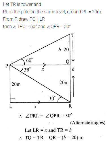 ML Aggarwal Class 10 Solutions for ICSE Maths Chapter 20 Heights and Distances Ex 20 53