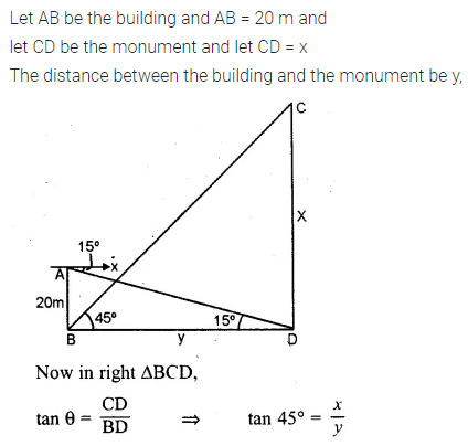 ML Aggarwal Class 10 Solutions for ICSE Maths Chapter 20 Heights and Distances Ex 20 55