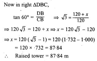 ML Aggarwal Class 10 Solutions for ICSE Maths Chapter 20 Heights and Distances Ex 20 58
