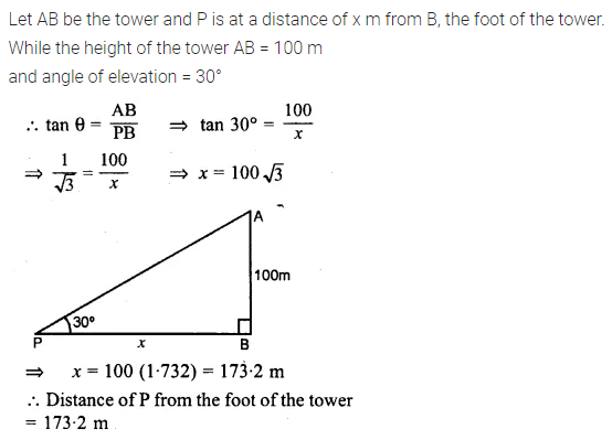 ML Aggarwal Class 10 Solutions for ICSE Maths Chapter 20 Heights and Distances Ex 20 6