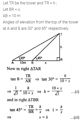 ML Aggarwal Class 10 Solutions for ICSE Maths Chapter 20 Heights and Distances Ex 20 60