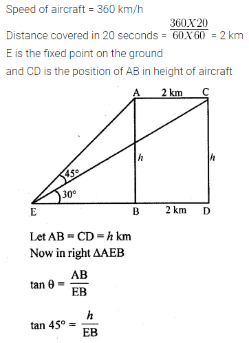 ML Aggarwal Class 10 Solutions for ICSE Maths Chapter 20 Heights and Distances Ex 20 62