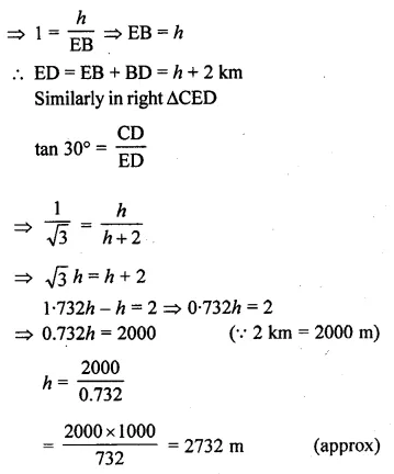 ML Aggarwal Class 10 Solutions for ICSE Maths Chapter 20 Heights and Distances Ex 20 63