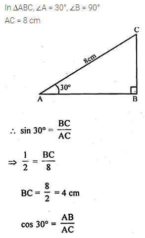 ML Aggarwal Class 10 Solutions for ICSE Maths Chapter 20 Heights and Distances MCQS 12