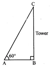 ML Aggarwal Class 10 Solutions for ICSE Maths Chapter 20 Heights and Distances MCQS 3