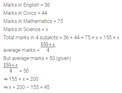 ML Aggarwal Class 10 Solutions for ICSE Maths Chapter 21 Measures of Central Tendency Chapter Test 1
