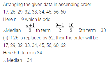 ML Aggarwal Class 10 Solutions for ICSE Maths Chapter 21 Measures of Central Tendency Chapter Test 27