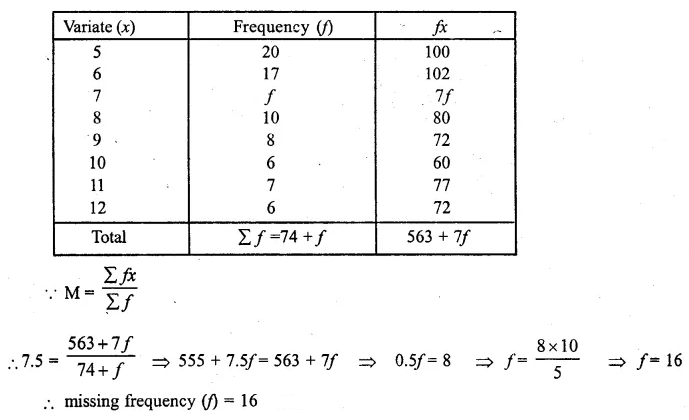 ML Aggarwal Class 10 Solutions for ICSE Maths Chapter 21 Measures of Central Tendency Ex 21.1 20