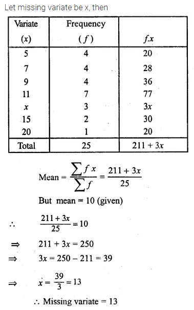 ML Aggarwal Class 10 Solutions for ICSE Maths Chapter 21 Measures of Central Tendency Ex 21.1 22