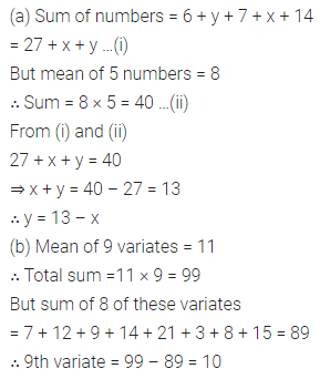 ML Aggarwal Class 10 Solutions for ICSE Maths Chapter 21 Measures of Central Tendency Ex 21.1 3
