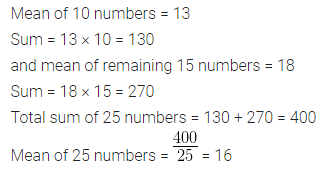 ML Aggarwal Class 10 Solutions for ICSE Maths Chapter 21 Measures of Central Tendency Ex 21.1 5