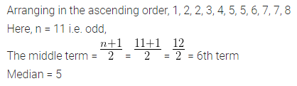 ML Aggarwal Class 10 Solutions for ICSE Maths Chapter 21 Measures of Central Tendency Ex 21.2 1
