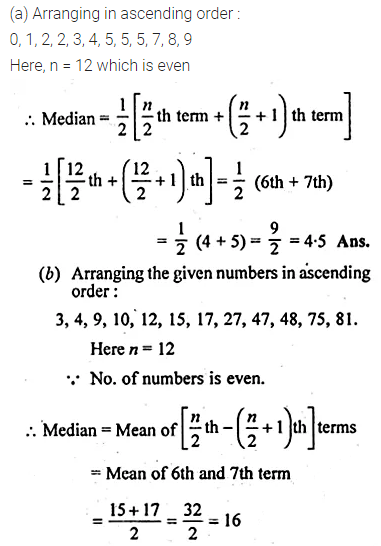 ML Aggarwal Class 10 Solutions for ICSE Maths Chapter 21 Measures of Central Tendency Ex 21.2 2