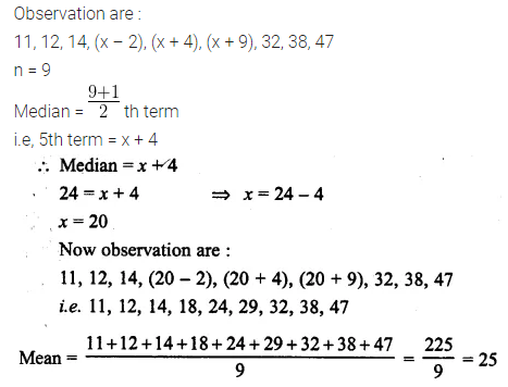 ML Aggarwal Class 10 Solutions for ICSE Maths Chapter 21 Measures of Central Tendency Ex 21.2 4
