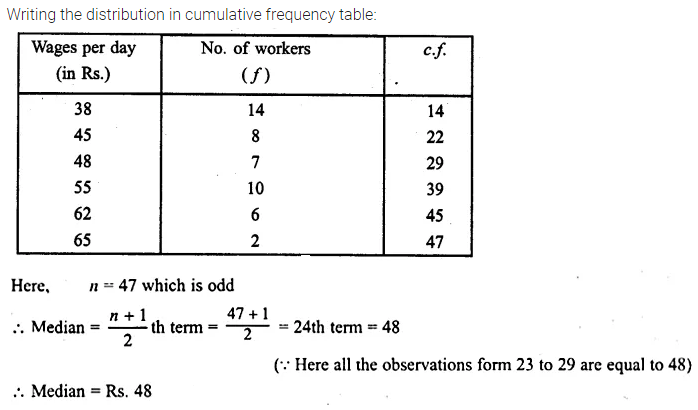 ML Aggarwal Class 10 Solutions for ICSE Maths Chapter 21 Measures of Central Tendency Ex 21.2 7