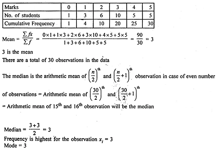 ML Aggarwal Class 10 Solutions for ICSE Maths Chapter 21 Measures of Central Tendency Ex 21.3 11