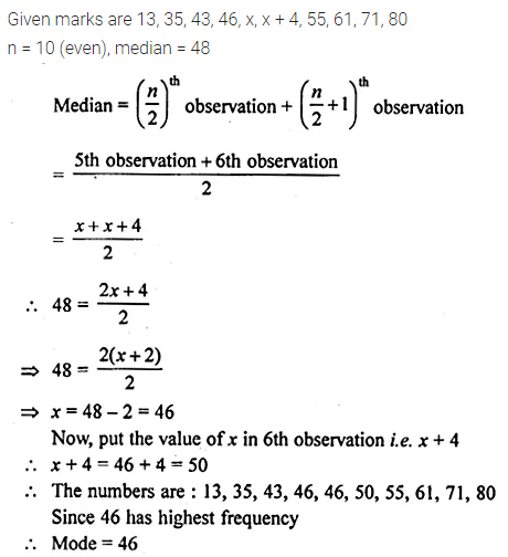 ML Aggarwal Class 10 Solutions for ICSE Maths Chapter 21 Measures of Central Tendency Ex 21.3 5