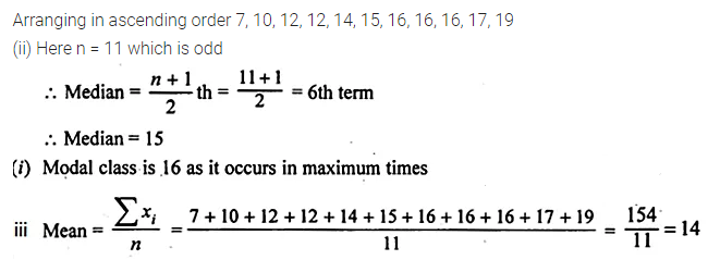 ML Aggarwal Class 10 Solutions for ICSE Maths Chapter 21 Measures of Central Tendency Ex 21.3 6