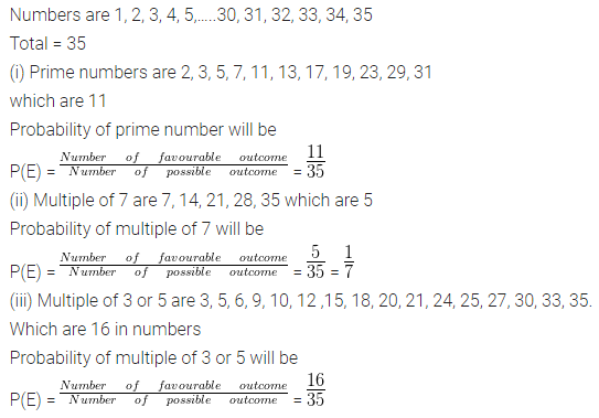 ML Aggarwal Class 10 Solutions for ICSE Maths Chapter 22 Probability Chapter Test 10