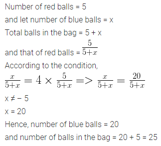 ML Aggarwal Class 10 Solutions for ICSE Maths Chapter 22 Probability Chapter Test 13