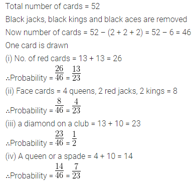 ML Aggarwal Class 10 Solutions for ICSE Maths Chapter 22 Probability Chapter Test 16
