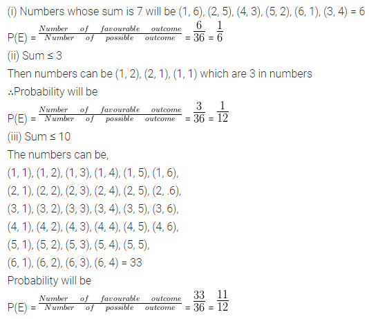 ML Aggarwal Class 10 Solutions for ICSE Maths Chapter 22 Probability Chapter Test 17