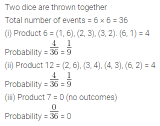 ML Aggarwal Class 10 Solutions for ICSE Maths Chapter 22 Probability Chapter Test 18