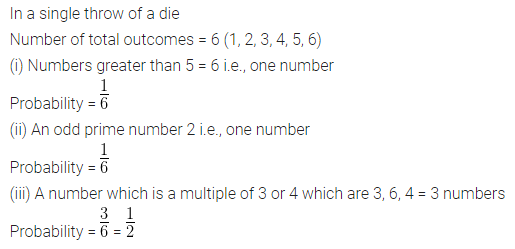 ML Aggarwal Class 10 Solutions for ICSE Maths Chapter 22 Probability Chapter Test 3