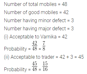 ML Aggarwal Class 10 Solutions for ICSE Maths Chapter 22 Probability Chapter Test 5