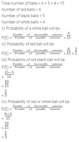 ML Aggarwal Class 10 Solutions for ICSE Maths Chapter 22 Probability Chapter Test 6