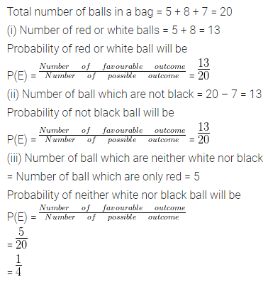 ML Aggarwal Class 10 Solutions for ICSE Maths Chapter 22 Probability Chapter Test 7