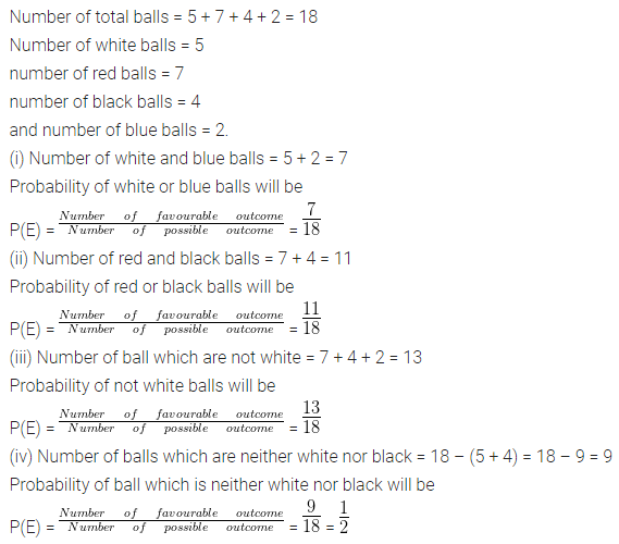 ML Aggarwal Class 10 Solutions for ICSE Maths Chapter 22 Probability Chapter Test 8