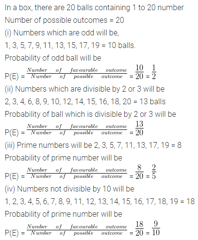 ML Aggarwal Class 10 Solutions for ICSE Maths Chapter 22 Probability Chapter Test 9