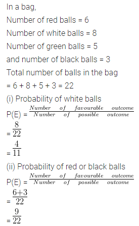 ML Aggarwal Class 10 Solutions for ICSE Maths Chapter 22 Probability Ex 22 14