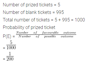ML Aggarwal Class 10 Solutions for ICSE Maths Chapter 22 Probability Ex 22 3