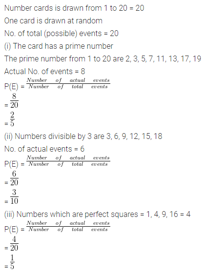 ML Aggarwal Class 10 Solutions for ICSE Maths Chapter 22 Probability Ex 22 30