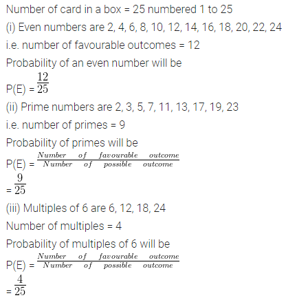ML Aggarwal Class 10 Solutions for ICSE Maths Chapter 22 Probability Ex 22 31