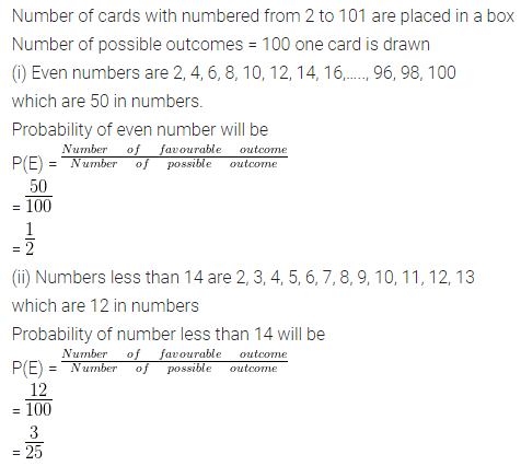 ML Aggarwal Class 10 Solutions for ICSE Maths Chapter 22 Probability Ex 22 39