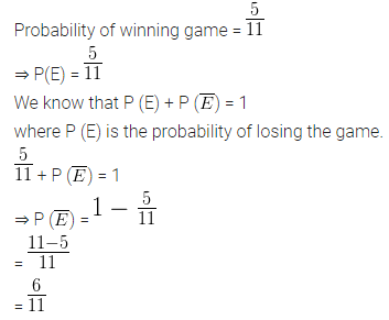 ML Aggarwal Class 10 Solutions for ICSE Maths Chapter 22 Probability Ex 22 5