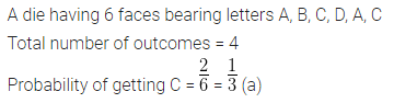 ML Aggarwal Class 10 Solutions for ICSE Maths Chapter 22 Probability MCQS 10