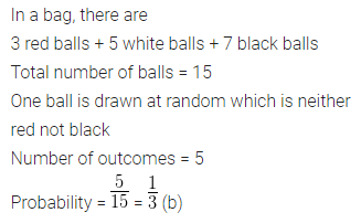 ML Aggarwal Class 10 Solutions for ICSE Maths Chapter 22 Probability MCQS 19
