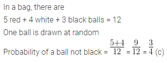 ML Aggarwal Class 10 Solutions for ICSE Maths Chapter 22 Probability MCQS 21