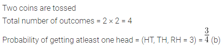 ML Aggarwal Class 10 Solutions for ICSE Maths Chapter 22 Probability MCQS 27