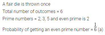 ML Aggarwal Class 10 Solutions for ICSE Maths Chapter 22 Probability MCQS 6